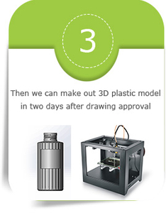 Then we can make out 3D plastic model in two days after drawing approval